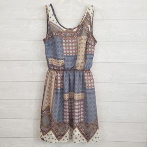 H&M Divided Patchwork Cutout Dress